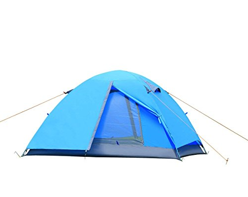 E EVERKING 2 Person Double Layer Camping Tent, Double Person 4 Seasons Waterproof Backpacking Tent, Lightweight Tents for Camping Hiking with Carrying Bag
