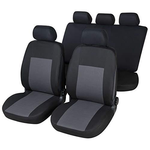 RMG R106V163 coprisedili per YPSILON fodere auto neri grigi compatibili con sedili dotati di airbag braciolo e sedili posteriori sdoppiabili