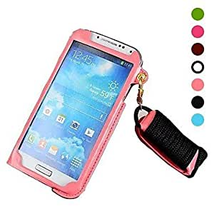 mofy Card Case bolsa de cuero correa de cuello para Samsung Galaxy S4/I9500
