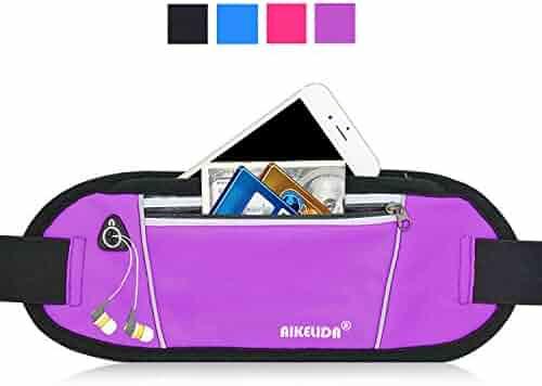 AIKELIDA Running Belt / Fanny Pack / Fitness Belt / Waist Pack for iPhone, Samsung Edge / Note / Galaxy - Men, Women during Sports Fitness, Running, Cycling, Hiking, Travel, Workout