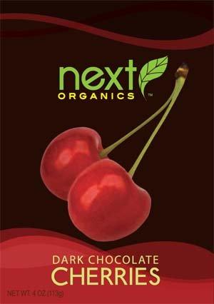 Next Organics Dark Chocolate Covered Cherries, 4 oz