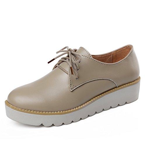 Primavera Zapatos Mujer Casual,UK Air Zapatos,Zapatos De Mujer Planos,Zapatos De Mujer Cuero Suela Gruesa B