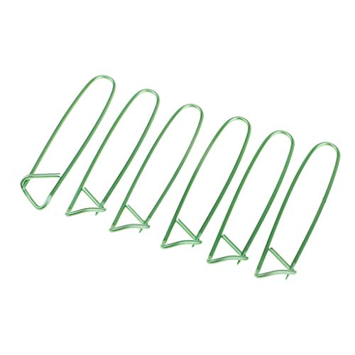 SM SunniMix 6Pcs Alloy Crochet Sewing Needles Stitch Holders Knitting Notions & Tools - Green Small
