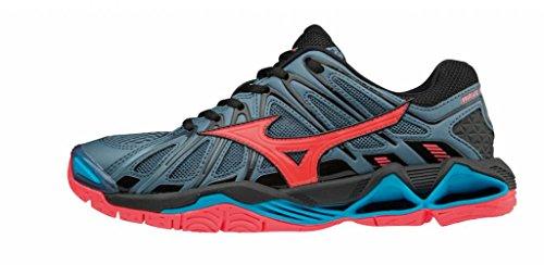 Basses Tornado Sneakers 001 Mizuno blk Femme Wave X2 bluemirage fcoral Multicolore IUnBq