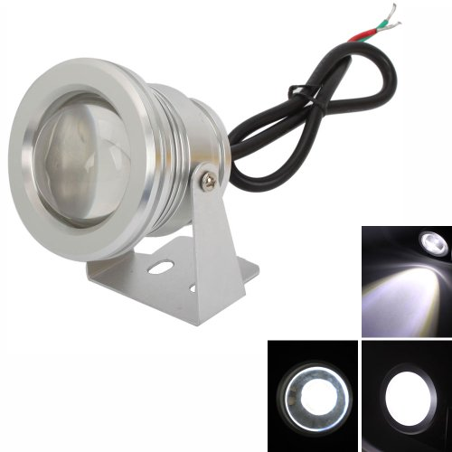 Pool Wall Light, Underwater Aquarium Light Pure White Pool Fountain LED Light Lamp 10W 900-1000LM 6000-7000K Underwater Incandescent Pool Light with Stainless Steel Face Ring Underwater Light Show