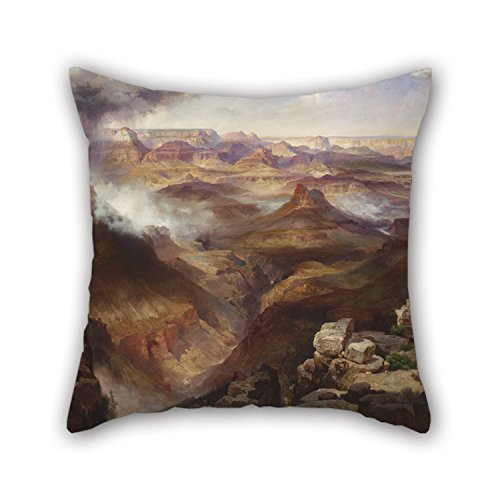 Loveloveu 18 X 18 Inches / 45 By 45 Cm Oil Painting Thomas Moran, American (born England) - Grand Canyon Of The Colorado River Pillowcase,2 Sides Is Fit For Adults,coffee (Dollar Tree Colorado Springs)