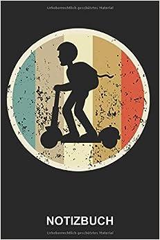 Notizbuch: Elektroscooter Elektro Scooter E-Scooter E-Roller Elektrischer Roller Fahrer Elektro-Roller   Retro Vintage Grunge Style Tagebuch, ...   ca. A5 mit Linien   120 Seiten liniert