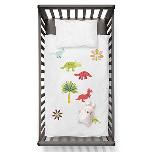 Baby Dino Duvet Funny Humor Hip Baby Duvet /Pillow set,Toddler Duvet,Oeko-Tex,Personalized duvet and pillow,Oraganic,gift by Jobhome