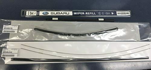 (Subaru 2014-2018 Forester Front & Rear Windshield Wiper Blade Refill Set Genuine)