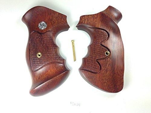 New Smith & Wesson K/l K L Frame Square Butt Revolver Grips Open Back Hardwood Wood Checkered Openback Handmade Beautiful Sport for Men Birthday Gift #Ksw38