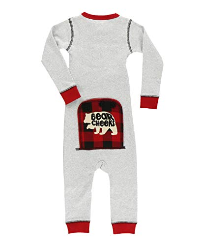 Baby Flapjack Onsie by LazyOne | Adult Kid Infant Dog Family Matching Pajamas (Grey Bear, 12 Months)