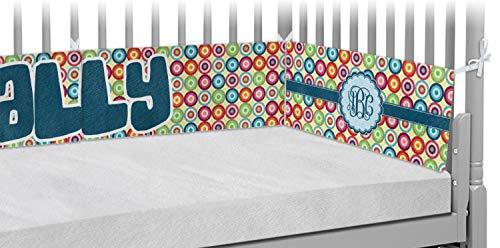 - Retro Circles Crib Bumper Pads (Personalized)