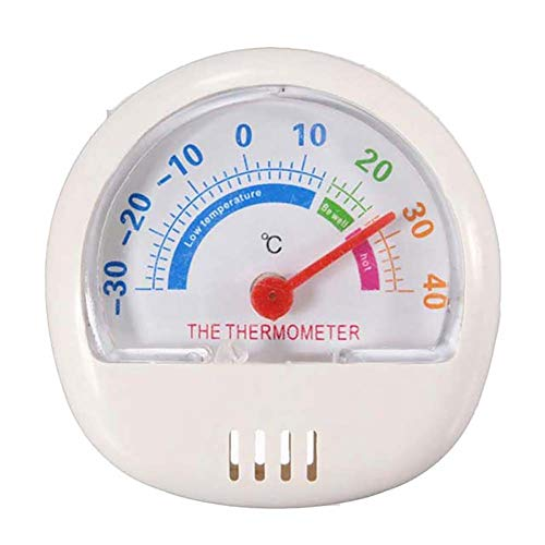 Buyanputra Portable Mini Pointer Type Freezer Thermometer Refrigerator Temperature Meter for Kitchen White