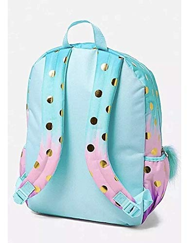 Justice School Backpack Dot Ombre Foil Initial (letter A) (Dots Foil)