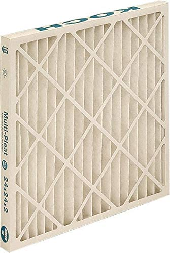 3 Pack 14 Nom Height x 20 Nom Width x 1 Nom Depth Cotton Polyester Fabric Wire-Backed Pleated Air Filter Made in USA
