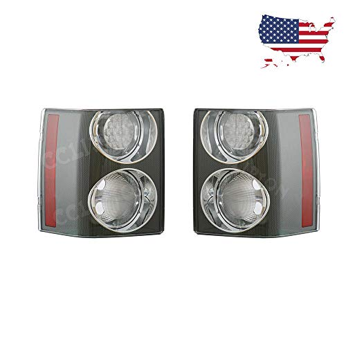 Range Rover Aftermarket - For Land Rover Range Rover HSE 2002-2009 Pair Clear Rear Tail Brake Light Lamp