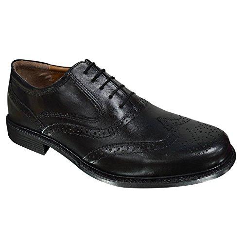 oaktrak pinham schwarz, braun oder castagnia Leder Brogues Oxford Works Herren Schuhe Black Brogues 1