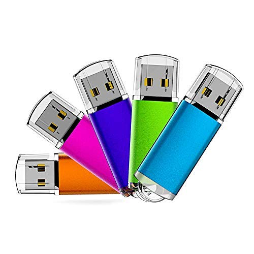 16G USB Flash Drive 5 Pack Easy-Storage Memory Stick K&ZZ Thumb Drives Gig Stick USB2.0 Pen Drive for Fold Digital Data Storage, Zip Drive, Jump Drive, Flash Stick, Mixed Colors (Create A Bootable Windows 7 Usb Flash Drive)