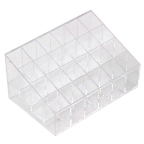 TOOGOO(R) Clear Transparent arylic Trapezoid Lipstick Holder Cosmetic Organizer/display/holder Organizer Stand