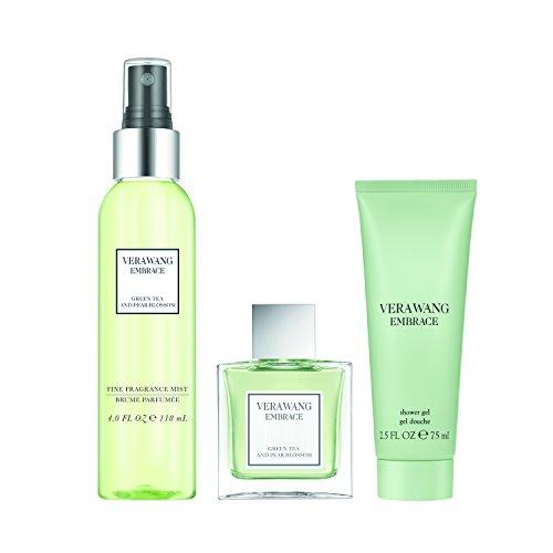 (Vera Wang Embrace Green Tea & Pear Blossom 3pc Set - 1 oz Eau De Toillette + Body Mist 4oz + 2.5 oz Body Lotion)