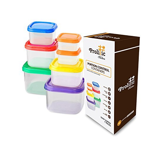 21 Day Fix Container Set by Prolific Kitchen - 7 Piece Porti