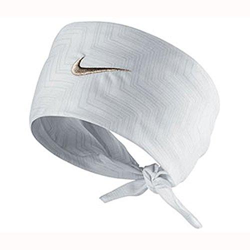 Nike Swoosh Hero Print UNISEX Bandana White/metallic Zinc