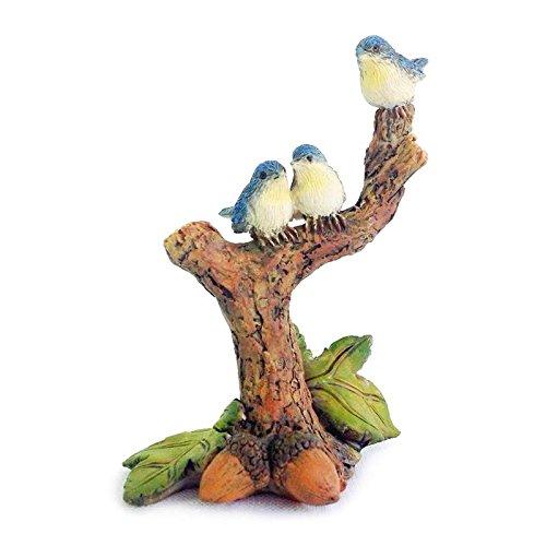 (My New Fairy Miniature Expressions Miniature Fairy Garden BLUEBIRD TRIO Figurine (NEW) - My Mini Garden Dollhouse Accessories for Outdoor or House Decor)