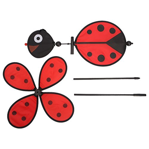 Lovhop Windmill Whirligig Wind Spinner Bee Ladybug Kids Toys Home Yard Garden Decor 1PC ()
