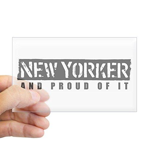CafePress - New Yorker 1 Rectangle Sticker - Rectangle Bumper Sticker Car Decal