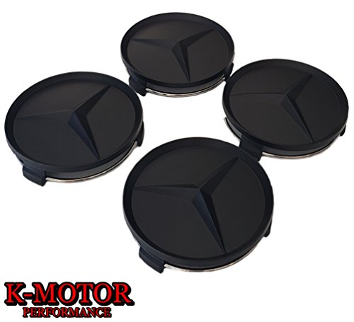 k-motor performance K-MOTOR SET OF 4 WHEEL CENTER CAPS FOR MERCEDES BENZ WHEELS C ML CLS S GL SL E CLK CL GL
