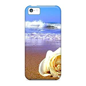 Iphone Cover Case - A Rose On Beach Protective Case Compatibel With Iphone 5c