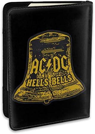 ACDC Hells Bells パスポートケース メンズ 男女兼用 パスポートカバー パスポート用カバー パスポートバッグ ポーチ 6.5インチ高級PUレザー 三つのカードケース 家族 国内海外旅行用品 多機能