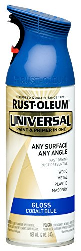 Rust-Oleum 245212 Universal Topcoat Spray Paint, 12 oz, Gloss Cobalt Blue
