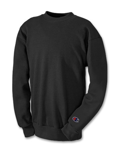 Champion Double Dry Hooded Jacket - Champion Boy's Double Dry Action Fleece Crew, Black, Small
