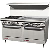 Southbend - S60DD-3G - S-Series 60 inches Restaurant Range with 4 Burners and 36 inches Griddle