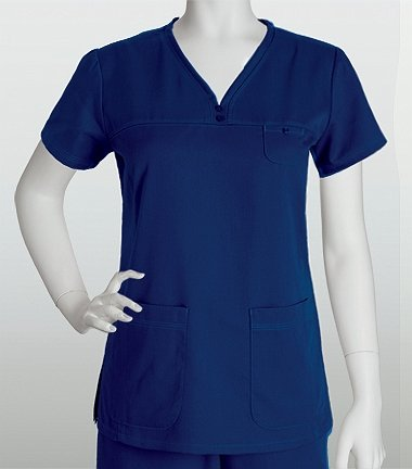 [Grey's AnatomyTM Women's Detailed V-Neck Solid Scrub Top XXX-Large Lilac] (Raven Dc Costume)