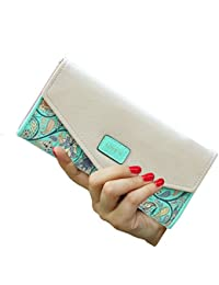 Womens Wallet Floral Leather Western Trifold Clutch Gift for Her,2021