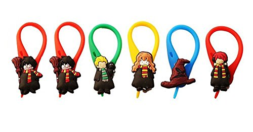 [AVIRGO 6 pcs Colorful Soft Zipper Pull Charms for Backpack Bag Pendant Jacket Set # 54-4 by Hermes] (Dobby Harry Potter Costumes)