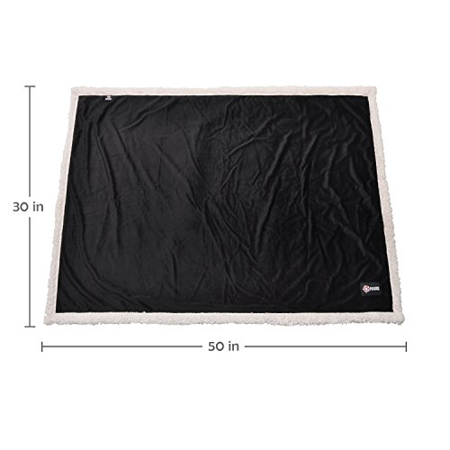 Puppy Blanket,Super Soft Sherpa Dog Blankets and Throws Cat Fleece Sleeping Mat for Pet Small Animals 45x30 Black by Pawsse (Image #6)