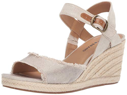 Lucky Women's MINDRA Espadrille Wedge Sandal, Natural/plat, 8.5 M US