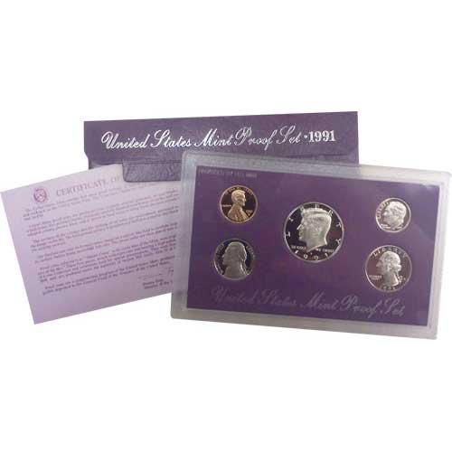 Collection Coin Proof (1991 S US Mint Proof Set OGP)