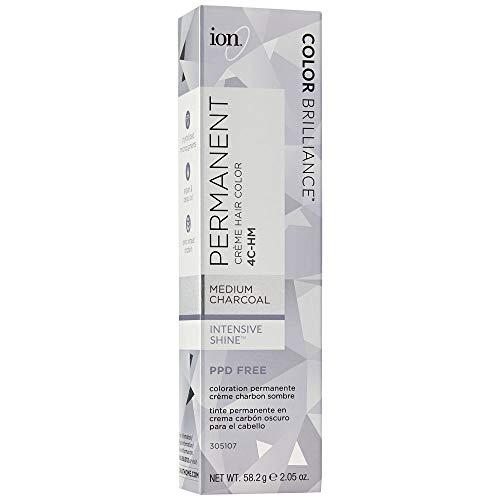 Ion 4C-HM Medium Charcoal Permanent Creme Hair Color 4C-HM Medium Charcoal