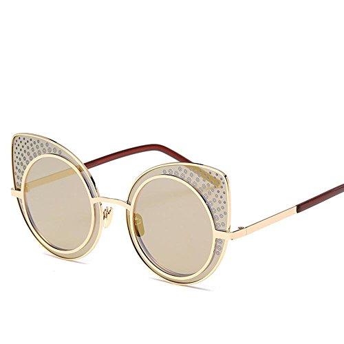 Aoligei Lunettes de soleil lunettes de soleil métalliques européennes et américaines réflectorisé fashion lady lunettes de soleil couleur lumineuse marée personnes 6lCEgWh2aK