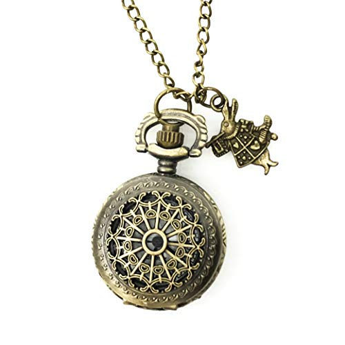 (Alice in Wonderland Tea Party Steampunk pocket watch necklace)