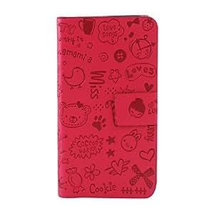 Cute Magic Girl PU Leather Case for Samsung Galaxy S4 I9500 , Rose