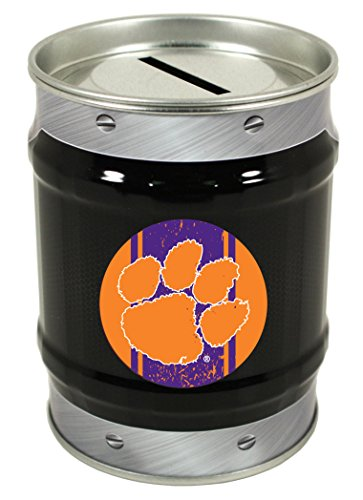 NCAA-CLEMSON TIGERS COIN BANK-CLEMSON UNIVERSITY TIN BANK-NEW FOR 2016! (Clemson Tigers Piggy Bank)