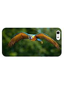 3d Full Wrap Case for iPhone 5/5s Animal Blue And Yellow Macaw67