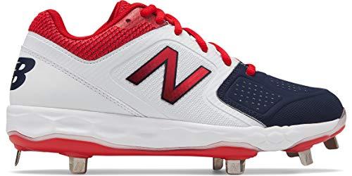 New Balance Women's Velo V1 Metal Softball Shoe White/red 6.5 D US