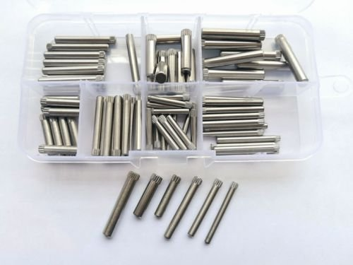 80pcs M3 M3.5 M4 M5 Stainless Steel Knurled Cylindrical Pins Toy Joint Rod Pin by LRY
