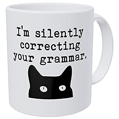 Cat Fan related Products Wampumtuk Cat I'm Silently Correcting Your Grammar Teacher... [tag]